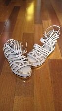 Topshop Unique White Leather Flatforms - US Shoe size 8 1/2 -  Brand New