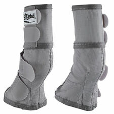 Cashel Crusader Horse Size LEG GUARDS Cool Mesh Boots Fly Control Grey