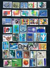 42 Recent Used Swiss Commemorative Stamps