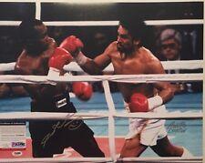 Sugar Ray Leonard & Roberto Duran Autographed 16x20 Boxing Photo 3 PSA/DNA COA