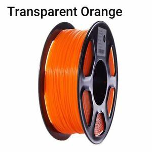 3D Printer Filament Transparent Clear 1KG PLA Spool Printing Materials Supplies