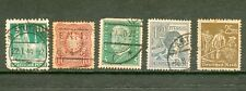 5 TIMBRES OBLITERES ANCIENS ALLEMAGNE ( dont 3 REICH)
