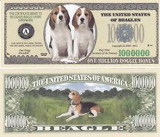 10 Beagle Dogs Puppy Canine K-9 Cute Adorable Novelty Money Bills Lot #243