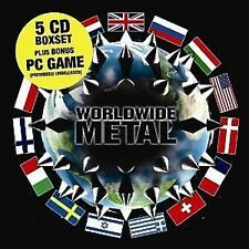 Worldwide Metal 5-CD Box Set+PC Game NEW SEALED Cathedral/Napalm Death/Godflesh+