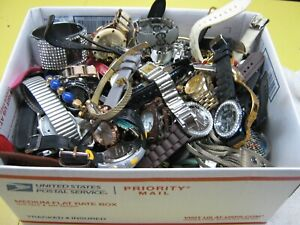 Nice 11 Pound Lot of Untested Watches for Parts, Repair, Resale or Wear - VX