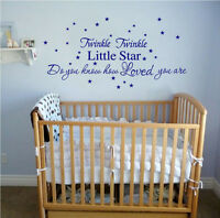 twinkle little star stickers wall Decal Removable Art Vinyl Decor Home Nursery