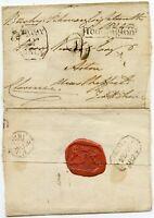 ROYALTY KING WILLIAM 4th SIGNATURE DUKE of CLARENCE+ SEAL .BUSHY TEDDINGTON 1824
