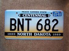 1993 North Dakota  Centennial nummernschilder .115 Gramm USA