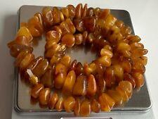 Natural Vintage Amber Beads Antique Baltic Old Necklace 53.84 gr.