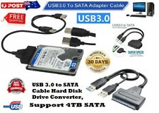 USB 3.0 to SATA Cable Hard Disk Drive Converter, Support 4TB SATA
