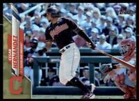 2020 Update Base Gold Foil #U-99 Cesar Hernandez - Cleveland Indians