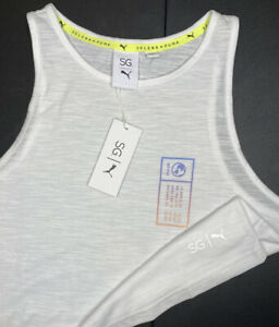 Puma x Selena Gomez Tank Top Crop Shirt SG Athletic Collection Women Sz M NWT