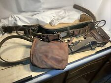 Klein Tools Floating lineman Utility Belt, Pouches, positioning Lanyard Lqqk!