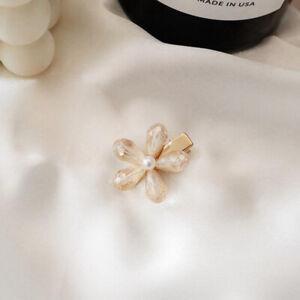 Womens Crystal Pearl Flower Hair Clips Hairpin Barrette Stick Hair Accessories