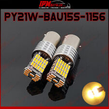 2x PY21W BAU15S 1156 Set Rear LED Bulbs Amber Orange Blinker Index Lights CANBUS