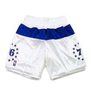 Mitchell & Ness Philadelphia 2003-04 76ers IVERSON SATIN WHITE Authentic Shorts