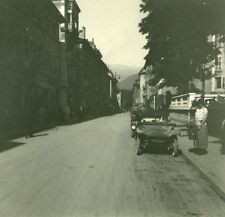 France Haute Savoie Lake Annecy rue Royale old Possemiers Stereo Photo 1920