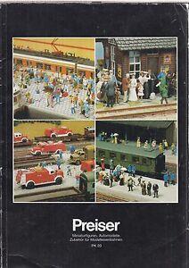PREISER HO N & Z GAUGE MODEL RAILWAY FIGURES 1991 PRODUCT RANGE CATALOGUE