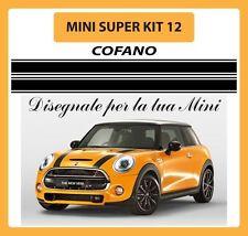 MINI, ONE, COOPER, COOPER S, COUNTRYMAN, ADESIVI KIT 12 STRISCE COFANO