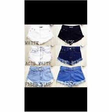 DENIM SHORT HIGH WAIST