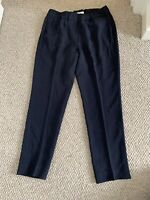 BRUNELLO CUCINELLI Women's Navy Blue Acetate & Silk Pants US 6 New $2000-