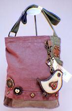 Chala Purse Handbag Canvas Crossbody with Key Chain Tote Bag Little Bird
