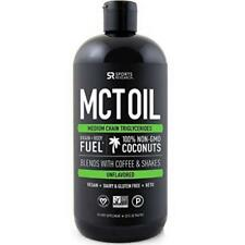 Premium Mct Oil Derived Only From Organic Coconuts 32Oz Bpa Free Bottle Sports