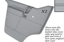 Black stitch 2X porte cartes cuir gris couvre pour vw T4 transporter camper