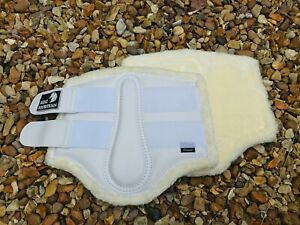 COMPETITION BOOTS BRUSHING TENDON DRESSAGE FLEECE BLUE BROWN WHITE PONY COB FULL