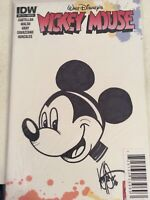 MOCKEY MOUSE #1 BLANK VARIANT SIGNED AND REMARKED SKETCHED BY KEN HAESER W/COA.