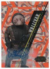 2016 Star Wars High Tek Autographs Orange Warwick Davis Wollivan Auto 05/25