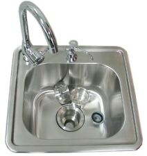 Sunstone 17 Inch Single Sink with Hot and Cold Water Faucet