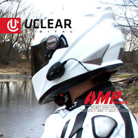 uClear AMP Single Bluetooth Full Face Helmet Audio Intercom Headset Motorbike
