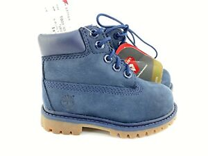 Timberland Boots Toddler Boys 5 Kids Blue Nubuck Suede Work Boot Timbs Hightop