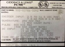 GIDDINGS & LEWIS : PLCs : Pic900 : Input Encoder : 4 Channels # 502-03786-02 R2