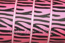 Animal Print Grosgrain Ribbon 1 in x 1 yard (3 ft of cut ribbon) YOU PICK PRINT