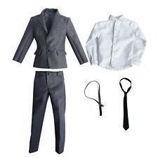 """1/6 Scale Male Suit Body Doll Clothes for Phicen Hot Toys BBI 12"""" Action Figure"""