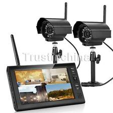 """7""""TFT LCD 4CH CCTV DVR Wireless Security System IR Night Vision Outdoor Camera"""