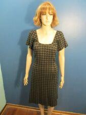 XL brown/black ZIP UP HOUNDSTOOTH PRINT dress by BCBG MAXAZRIA