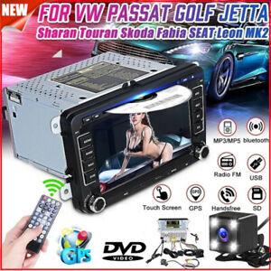 """For VW Golf MK5 MK6 Jetta Transporter Passat 7"""" Car DVD Stereo Radio GPS Sat Nav"""