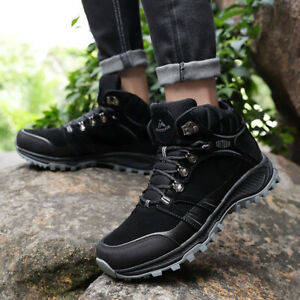 Mens Hiking boots combat boots Work Combat Boots Trainers Black Grey Blue UK10