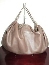 MARC by MARC JACOBS Taupe Pebble Cow Leather Shoulder Hobo Handbag NEW