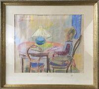 Eva Holmberg Jacobsson 1955 Interior - Boy at the Table - Sweden