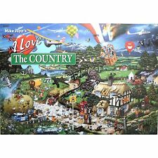 GIBSONS I LOVE THE COUNTRY HUMOUROUS MIKE JUPP 1000 PIECE JIGSAW PUZZLE