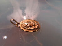 ancienne medaille religieuse pieuse bapteme or massif 18 carats vierge