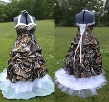 New Camo Wedding Dresses Formal Ball Gown Camouflage Bridal Gowns Custom Plus