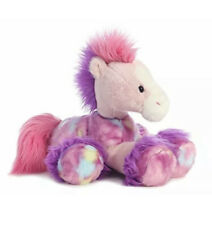 Aurora Bright Fancies Rainbow Bubblegum Horse Plush Toy New With Tags 28cm