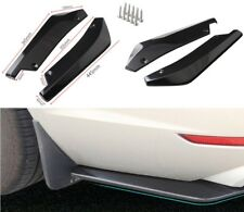 Universal Anti-Scratch Car Rear Bumper Lip Diffuser Splitter Canard Glossy Black