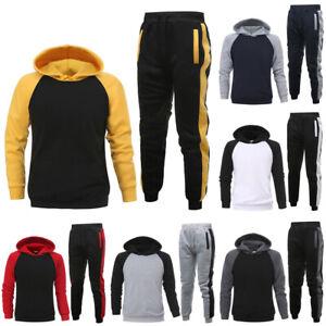 Men's Hooded Tops Long Pants Suit Sports Jogging Hoodie Tracksuit  Sportswear