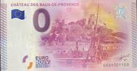 BILLET 0  EURO CHATEAU DES BAUX DE PROVENCE  FRANCE 2015 NUMERO 1100